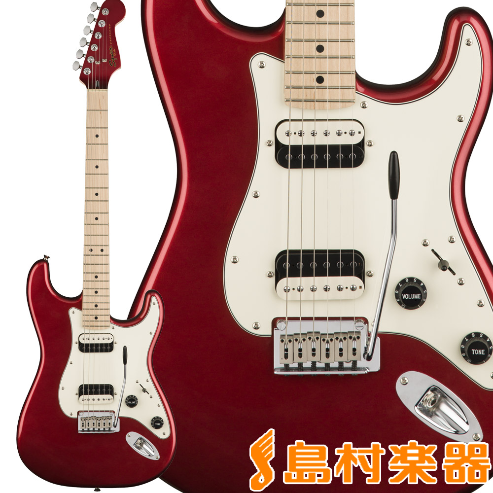 Squier by Fender Contemporary Stratocaster HH, Maple Fingerboard, Dark Metallic Red ストラトキャスター エレキギター 【スクワイヤー / スクワイア】