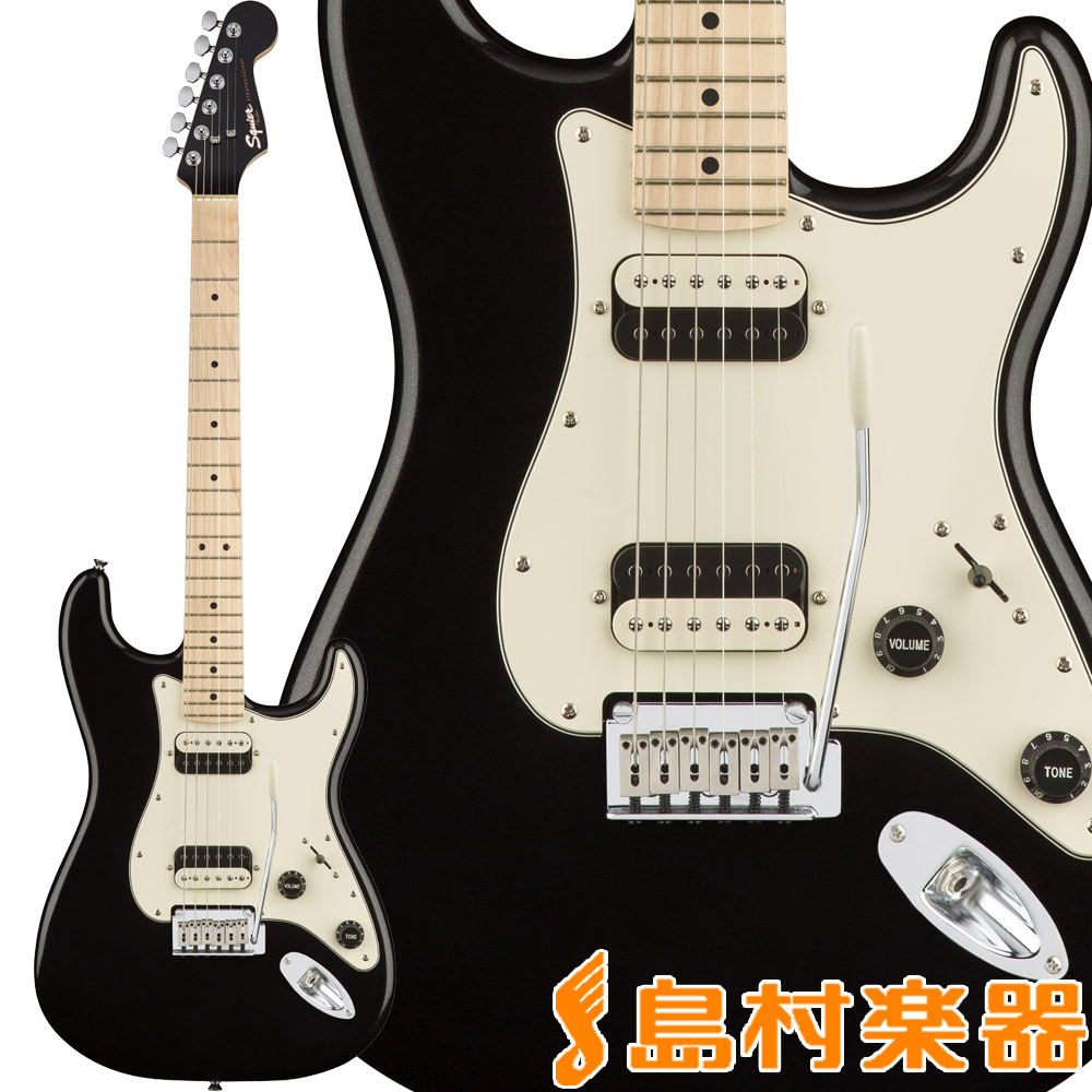 Squier by Fender Contemporary Stratocaster HH, Maple Fingerboard, Black Metallic ストラトキャスター エレキギター 【スクワイヤー / スクワイア】
