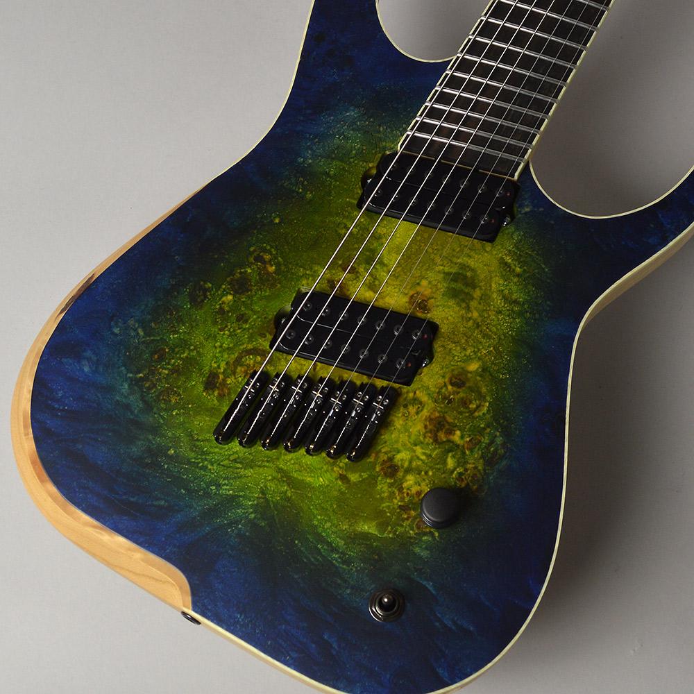 SKERVESEN GUITARS Raptor7 Poplar Burl Acid Dream エレキギター 7弦 【スケルヴェセン ギターズ】【梅田ロフト店】