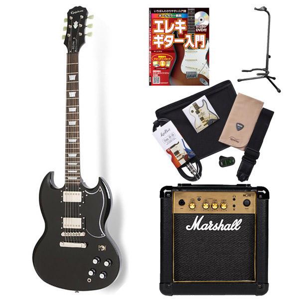 Epiphone G-400 Pro EB エレキギター 初心者 セット SG マーシャルアンプ 入門セット 【エピフォン】