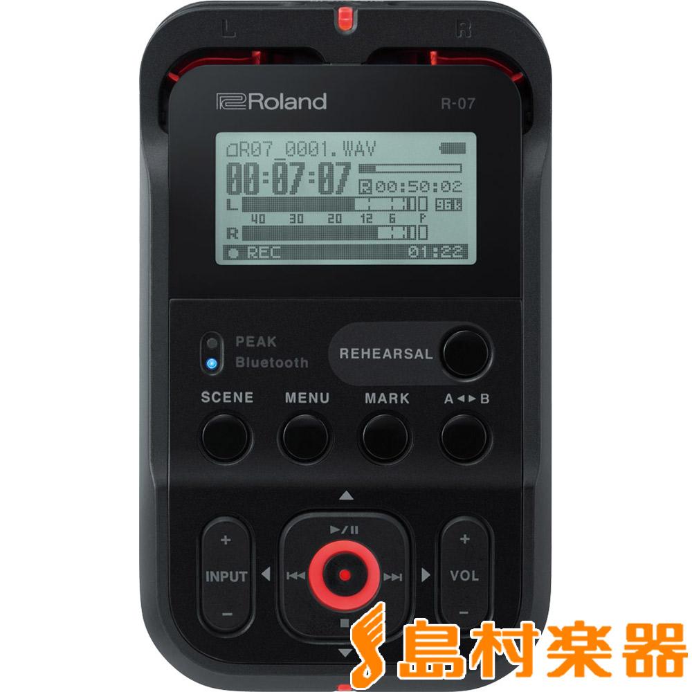 【数量限定USBケーブルプレゼント!】Roland R-07 (ブラック) High Resolution Audio Recorder ハンディ レコーダー ハイレゾ対応 【ローランド】