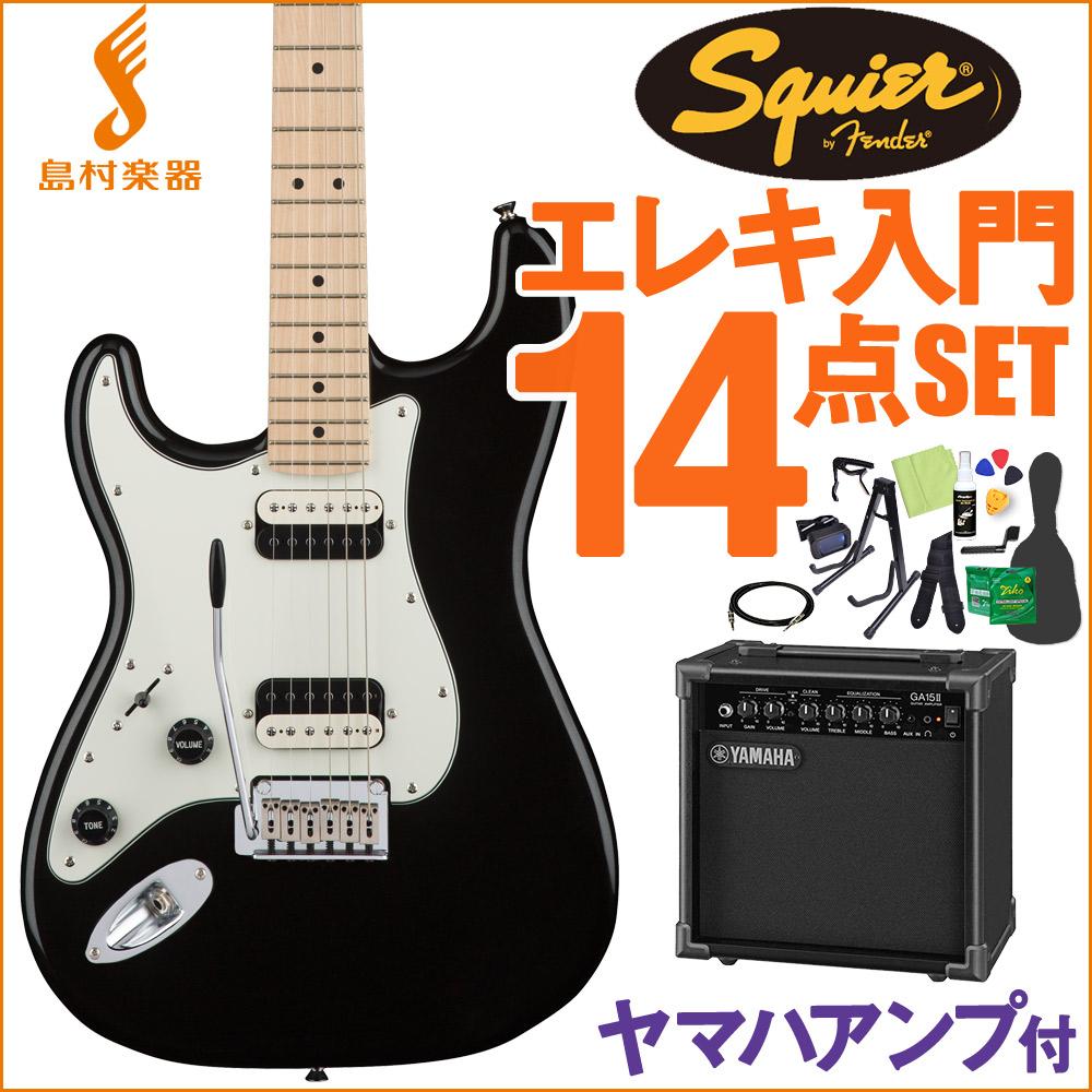 Squier by Fender Contemporary Stratocaster HH Black Metallic エレキギター 初心者14点セット 【ヤマハアンプ付き】 ストラトキャスター 左用 Lefty 【スクワイヤー / スクワイア】【オンラインストア限定】