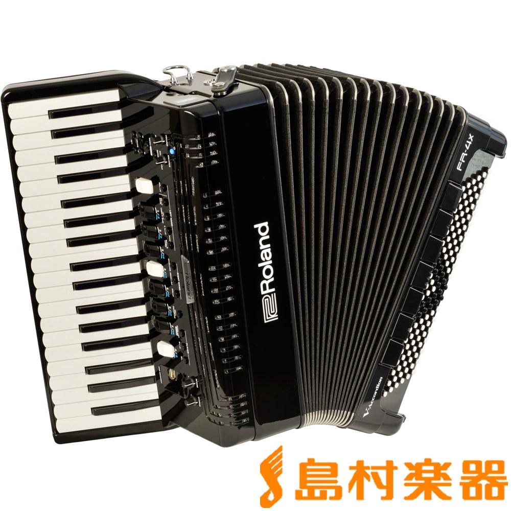 Roland V-Accordion FR-4X (ブラック) Vアコーディオン [中型 ピアノ鍵盤タイプ] 【ローランド FR4X】