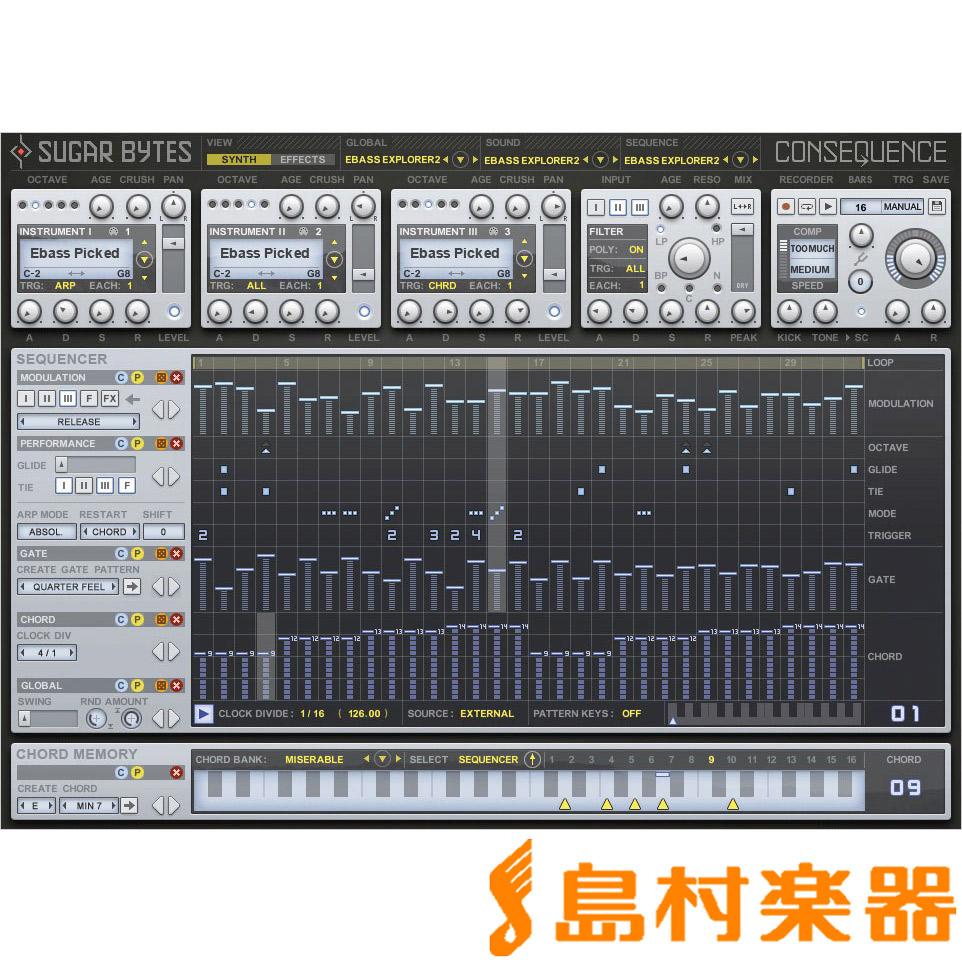 SUGAR BYTES Consequence プラグインソフトウェア 【シュガーバイツ】