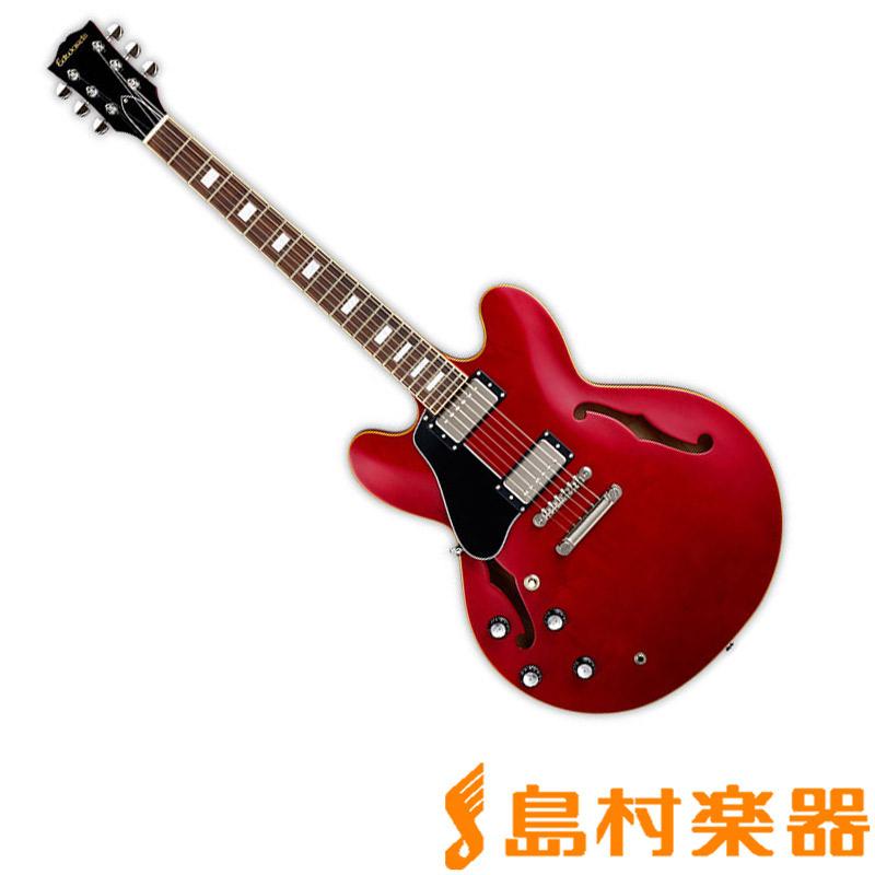 EDWARDS E-SA-160LTS/LH CH セミアコギター 左利き レフトハンド 【エドワーズ】