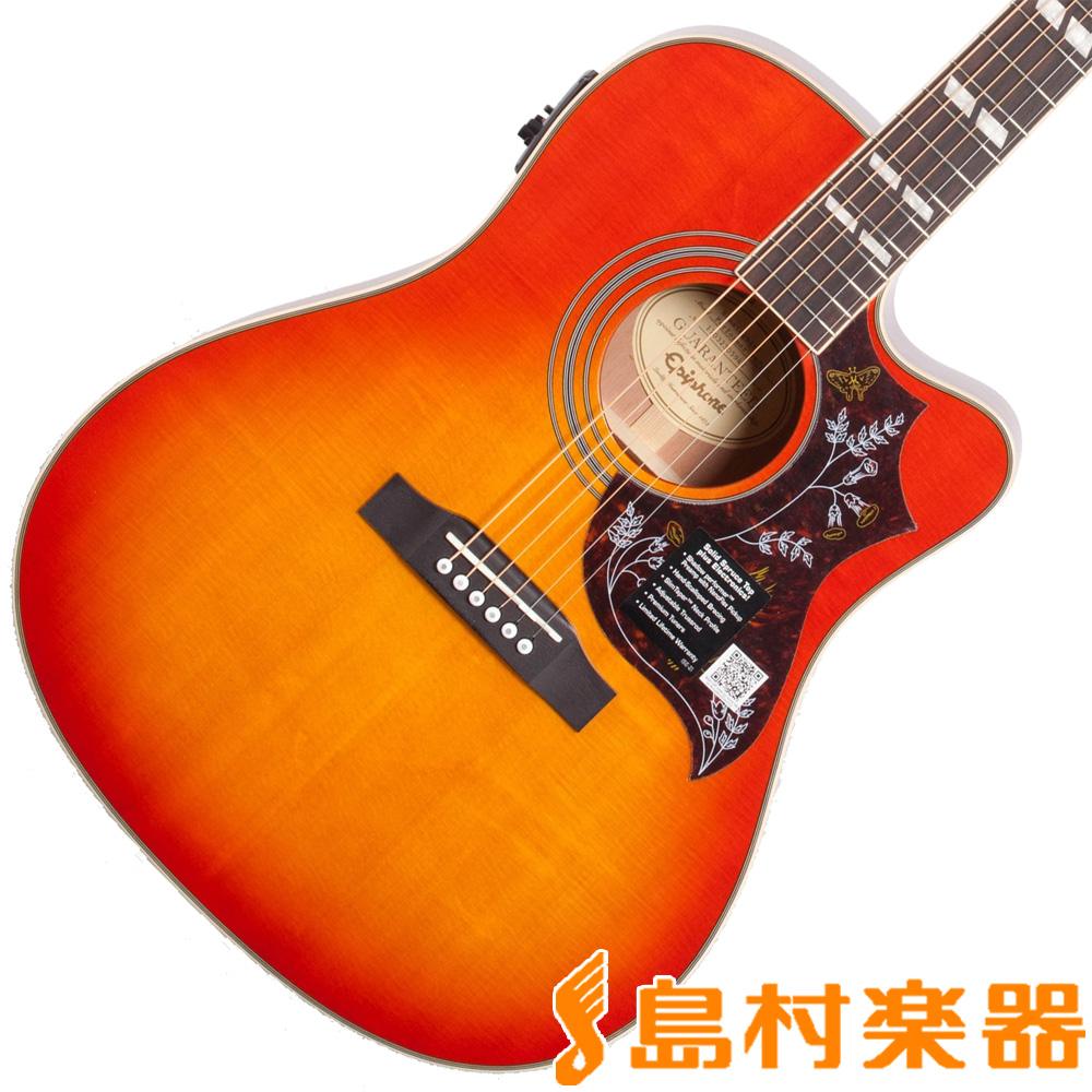 Epiphone Hummingbird Performer PRO Faded Cherry Burst エレアコギター 【エピフォン】