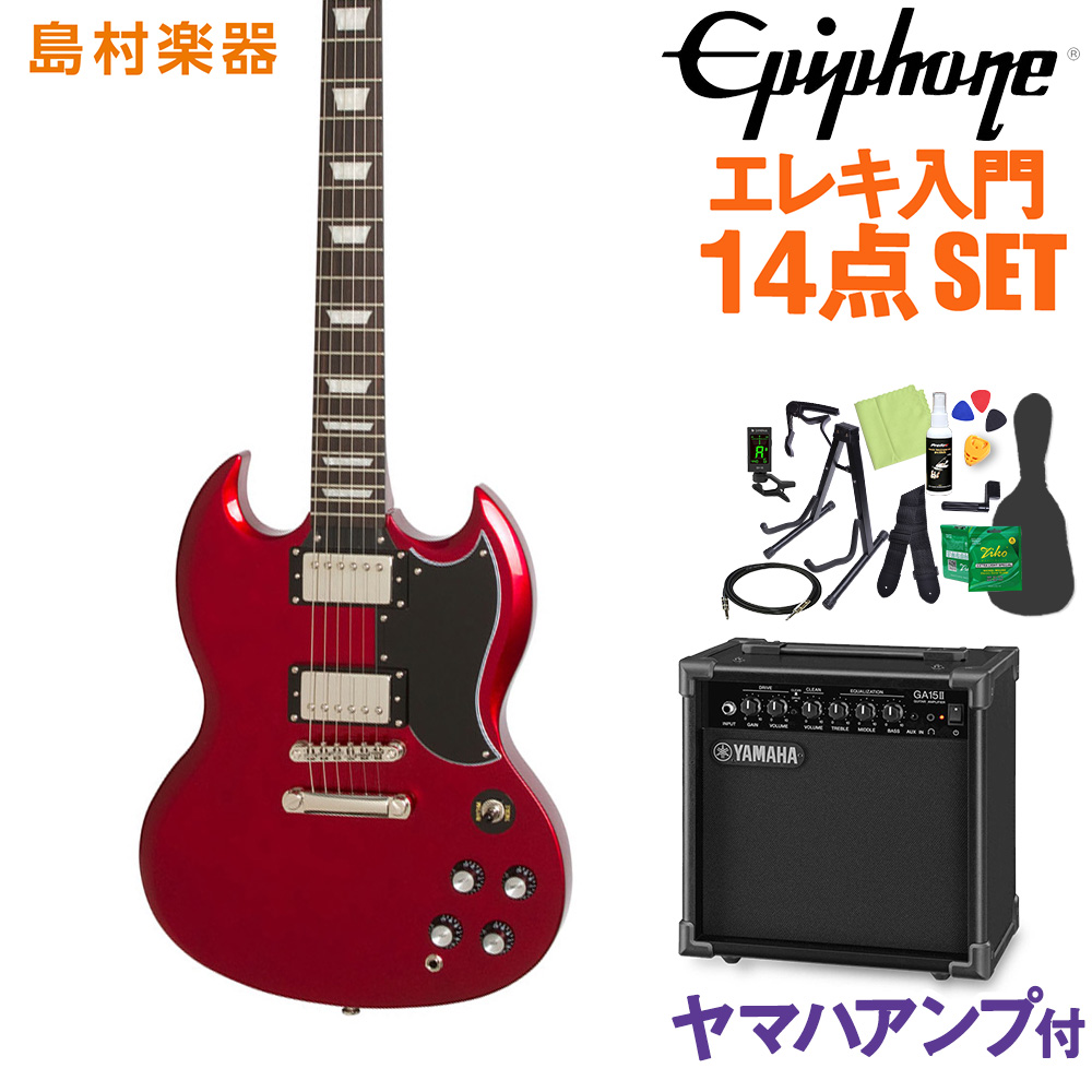 Epiphone Limited Edition 1961 G-400 PRO Candy Apple Red エレキギター 初心者14点セット 【ヤマハアンプ付き】 【エピフォン】【オンラインストア限定】