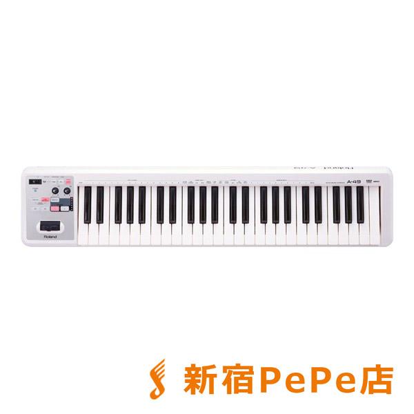 Roland A-49 (ホワイト) MIDIキーボード・コントローラー 49鍵盤 【ローランド A49】【新宿PePe店】