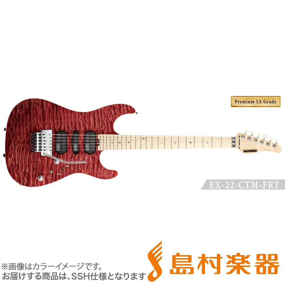 SCHECTER EX4-22CTM-FRT/5AG/M RDNTL エレキギター EX SERIES 【Premium 5A Grade】 【シェクター】【受注生産 納期約7~8ヶ月 ※注文後のキャンセル不可】