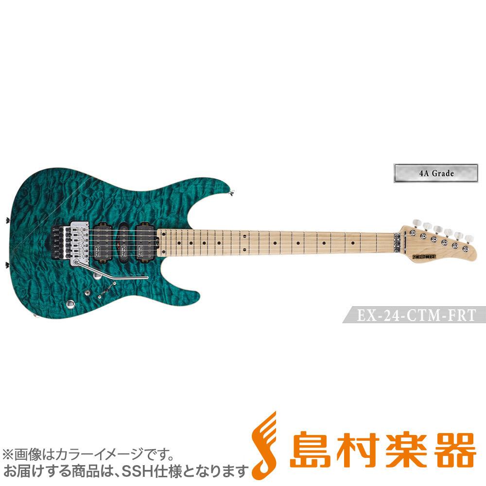 SCHECTER EX4B-24CTM-FRT/4AG/M BKTQ エレキギター EX SERIES 【4A Grade】 【シェクター】【受注生産 納期約7~8ヶ月 ※注文後のキャンセル不可】