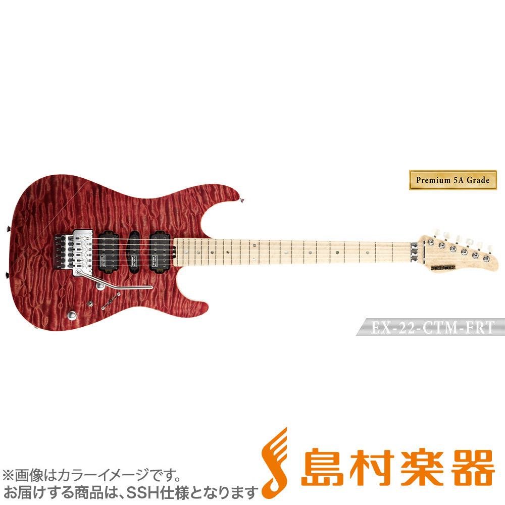 SCHECTER EX4B-22CTM-FRT/5AG/M RDNTL エレキギター EX SERIES 【Premium 5A Grade】 【シェクター】【受注生産 納期約7~8ヶ月 ※注文後のキャンセル不可】