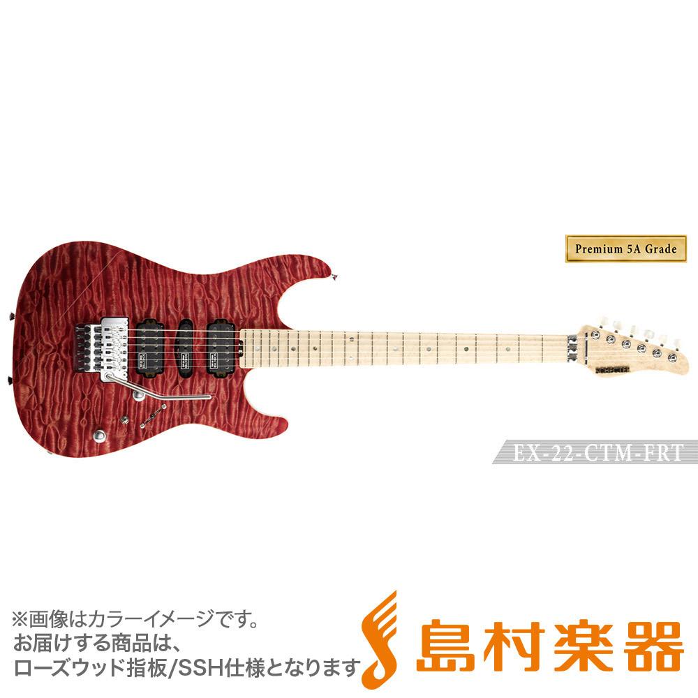 SCHECTER EX4B-22CTM-FRT/5AG/H RDNTL エレキギター EX SERIES 【Premium 5A Grade】 【シェクター】【受注生産 納期約7~8ヶ月 ※注文後のキャンセル不可】