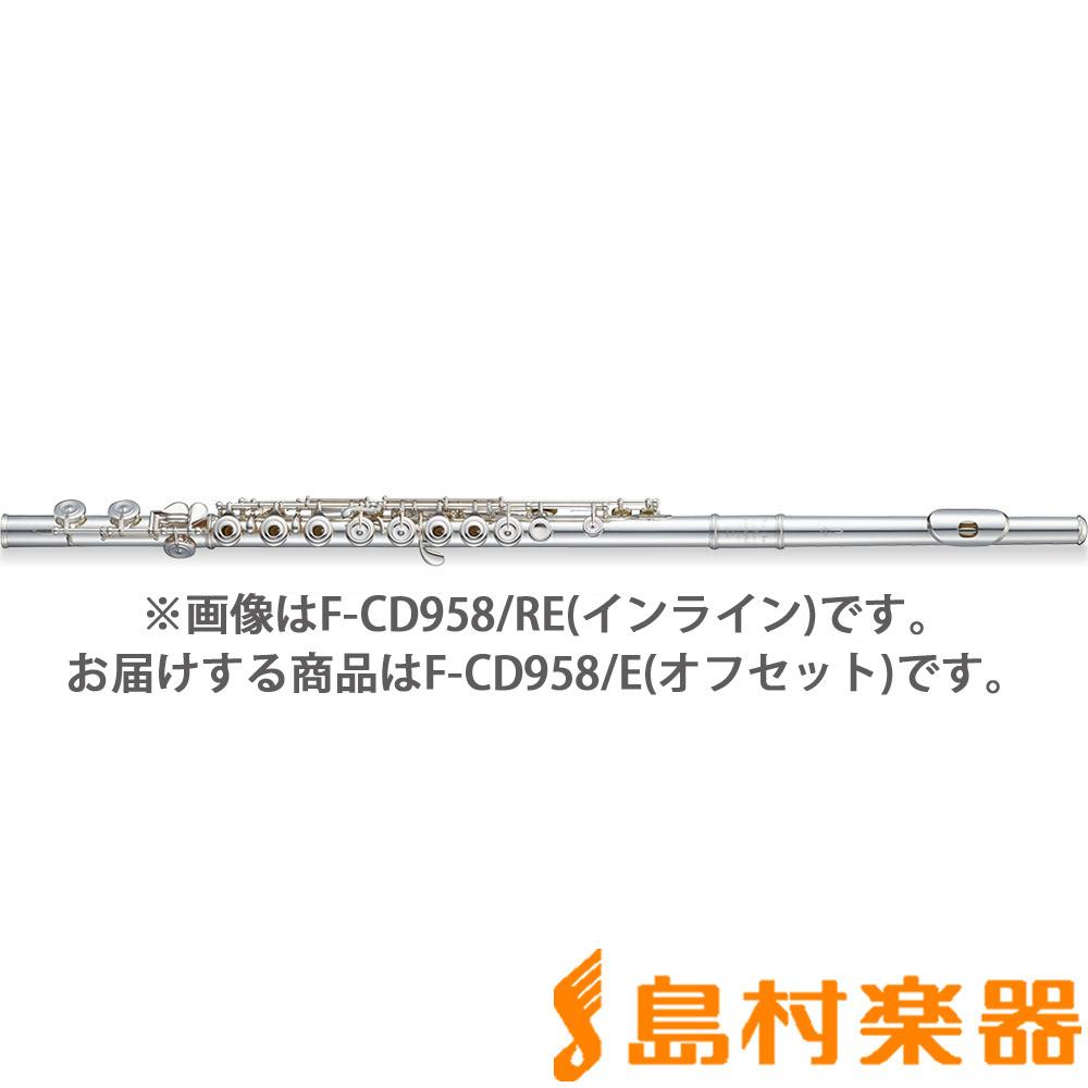Pearl F-CD958/E フルート C足部管 オフセット カバードキイ Eメカ付 【パール FCD958/E Cantabile / カンタービレ】