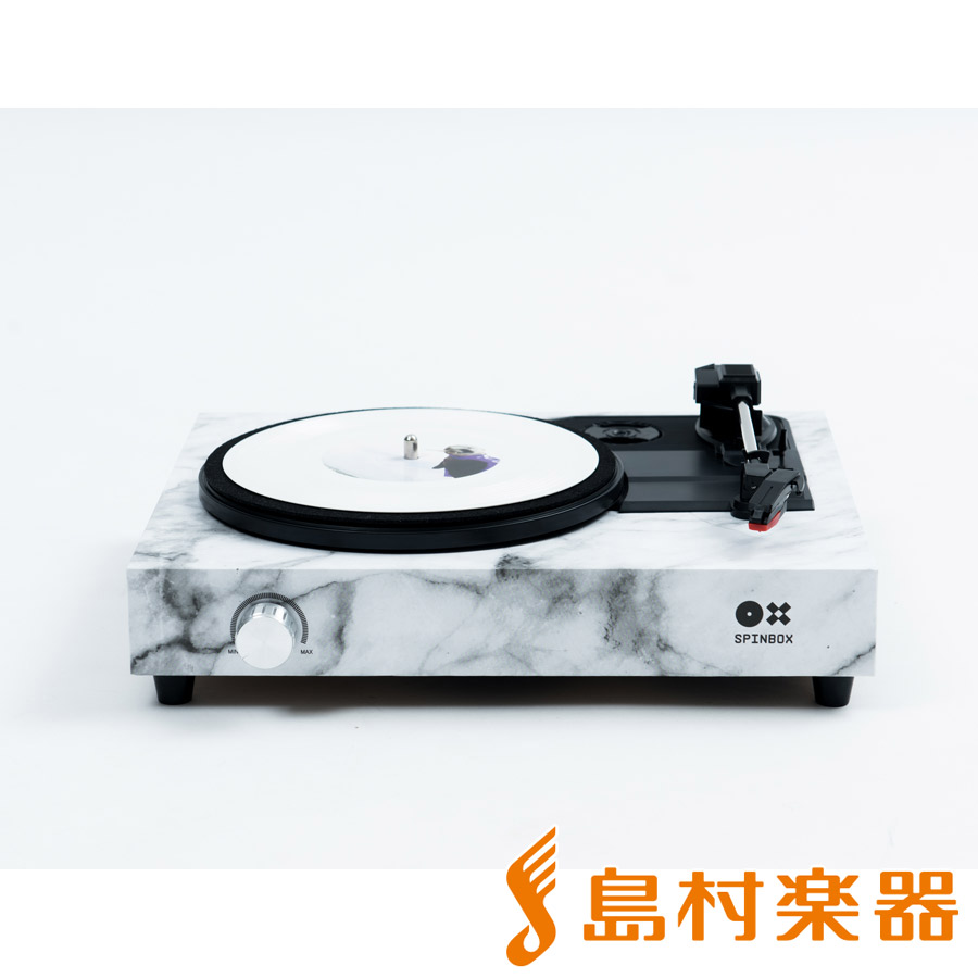 SPINBOX 組み立てるポータブルレコードプレーヤーキット (マーブル) 【スピンボックス SBX-M】