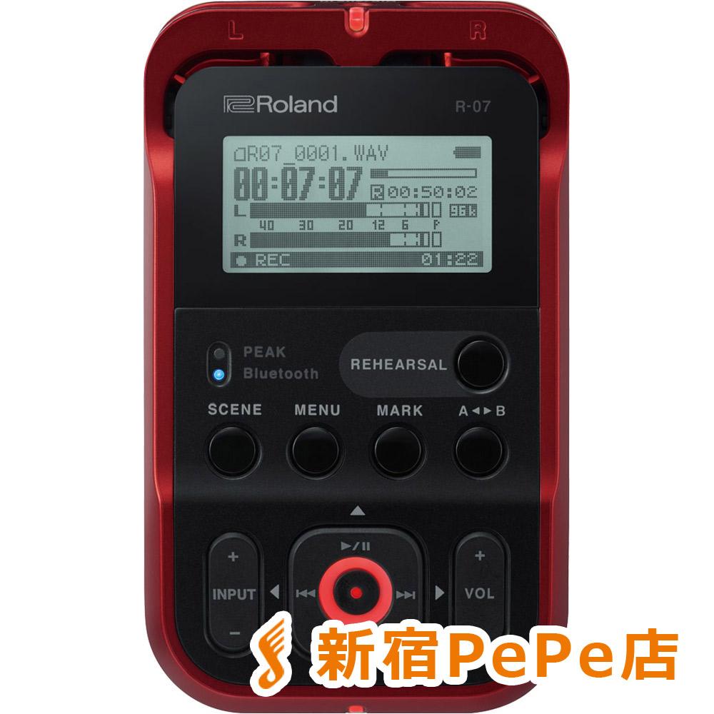 Roland R-07 (レッド) High Resolution Audio Recorder ハンディ レコーダー ハイレゾ対応 【ローランド】【新宿PePe店】