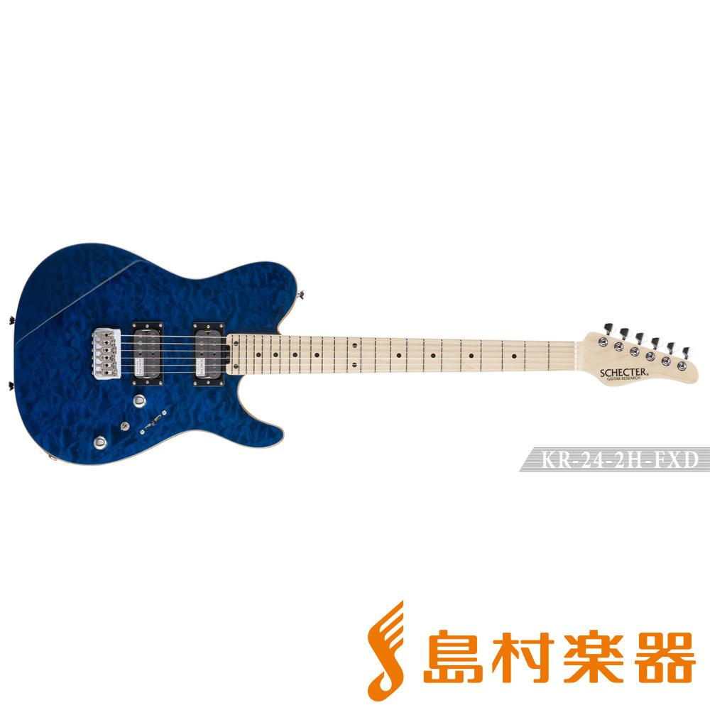SCHECTER KR-24-2H-FXD/M BLU エレキギター 【シェクター】