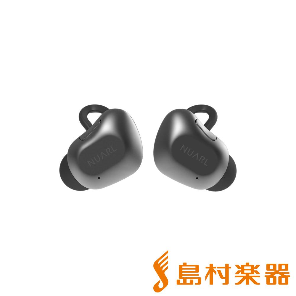 NUARL NT01 BLACK SILVER(ブラックシルバー) ワイヤレスイヤホン Bluetoothイヤホン 【ヌアール】