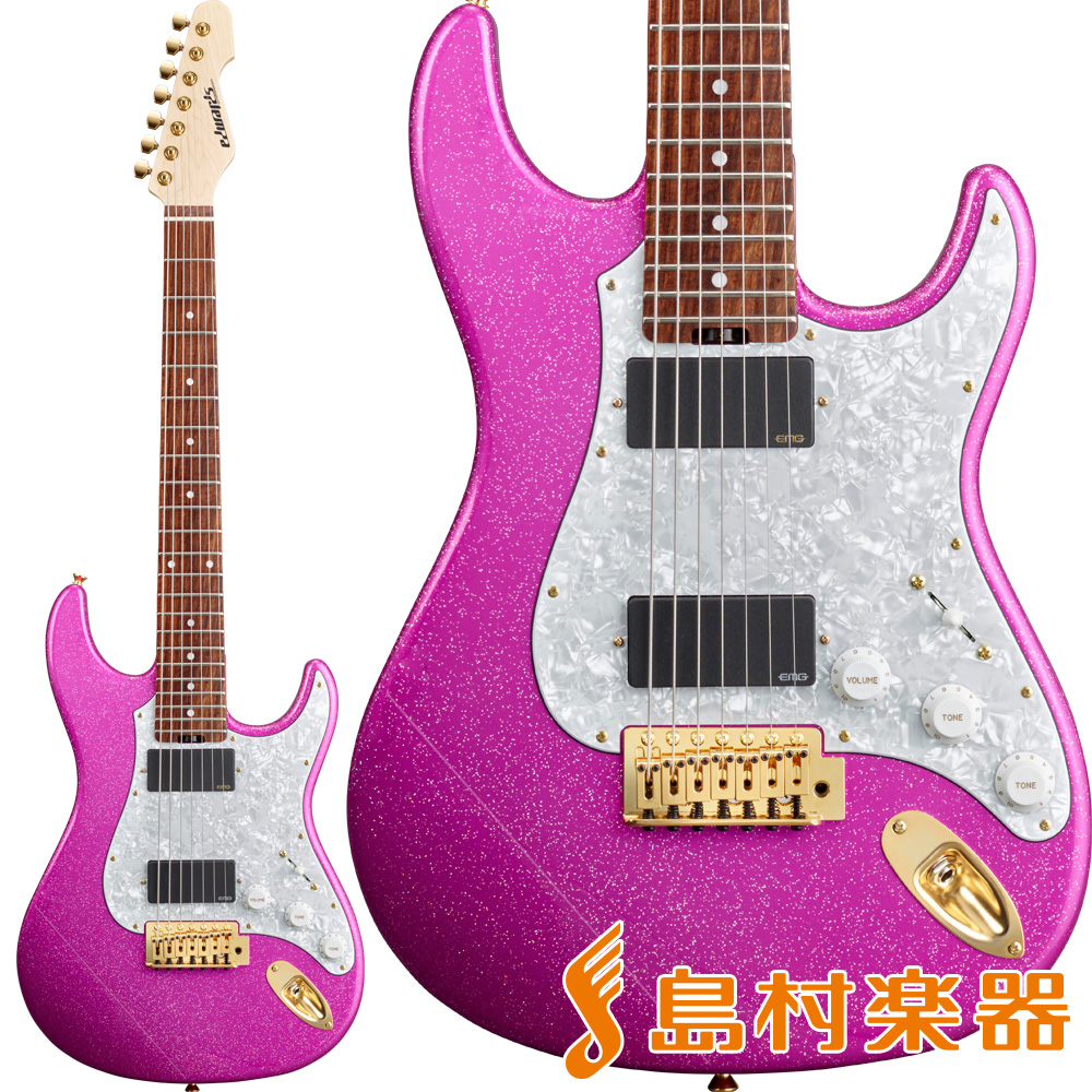 EDWARDS E-SN7-210TO Twinkle Pink Produced by Takayoshi Ohmura 【エドワーズ ESN7210TO】【大村孝佳モデル】【7弦】