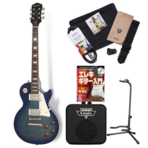 Epiphone LP STD + TOP PRO TL エレキギター 初心者 セット レスポール ミニアンプ 入門セット 【エピフォン】