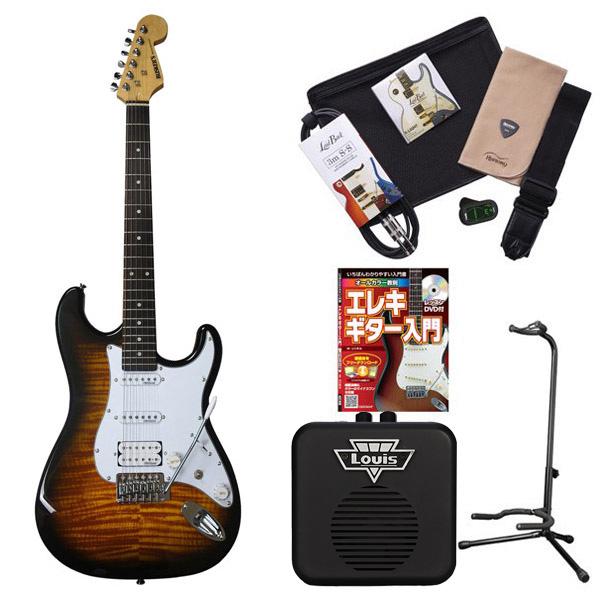 BUSKER'S BST-2H/FM 2TS エレキギター 初心者 セット ミニアンプ 入門セット【ストラトキャスター】 【バスカーズ】