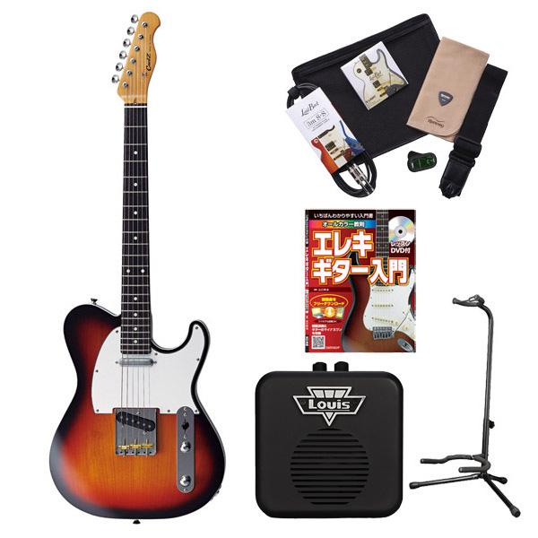 CoolZ ZTE-M10R 3TS エレキギター 初心者 セット ミニアンプ 入門セット 【テレキャスタータイプ】 【クールZ】【オンラインストア限定】