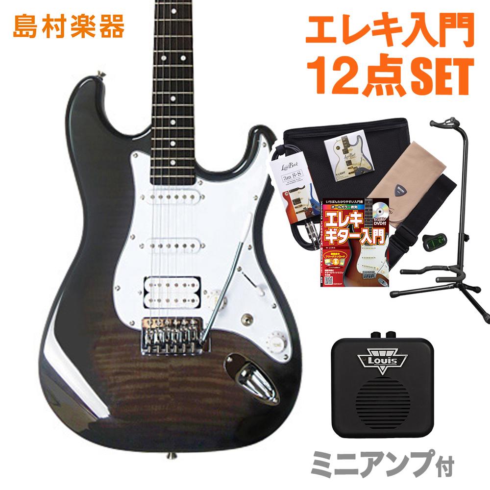 BUSKER'S BST-3H/FM TBK ミニアンプセット エレキギター 初心者 セット 【バスカーズ】