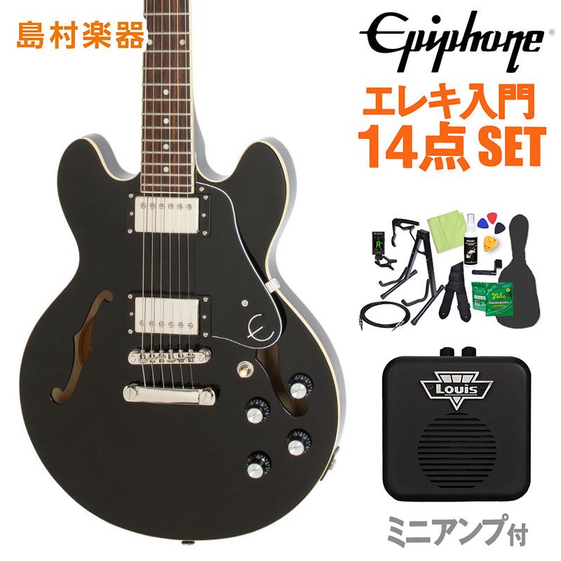 Epiphone ES-339 Pro Ebony エレキギター 初心者14点セット ミニアンプ付き セミアコ 【エピフォン】【オンラインストア限定】