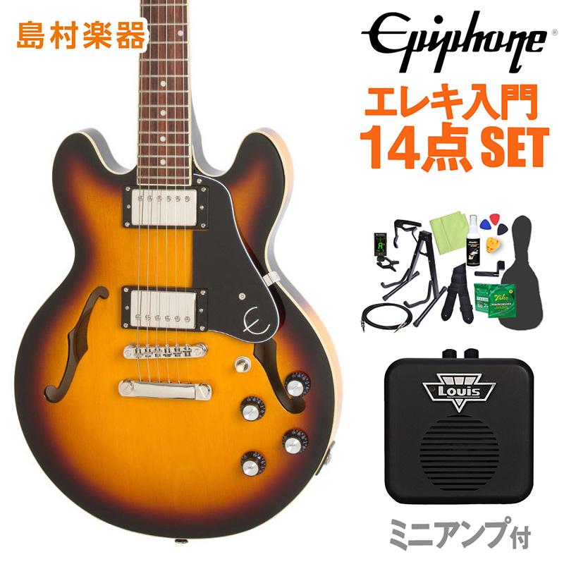 Epiphone ES-339 Pro Vintage Sunburst エレキギター 初心者14点セット ミニアンプ付き セミアコ 【エピフォン】【オンラインストア限定】