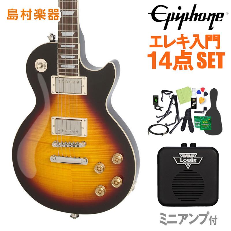 Epiphone Les Paul Tribute Plus Outfit Vintage Sunburst エレキギター 初心者14点セット ミニアンプ付き レスポール 【エピフォン】【オンラインストア限定】
