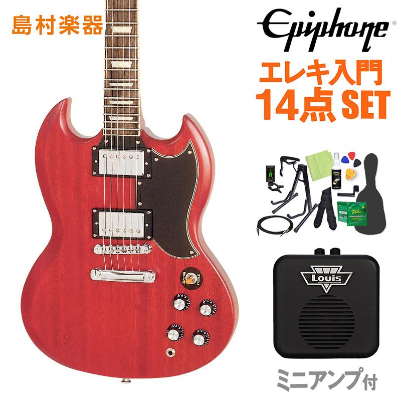 Epiphone Worn G-400 Worn CherrySG エレキギター 初心者14点セット ミニアンプ付き 【エピフォン】【オンラインストア限定】