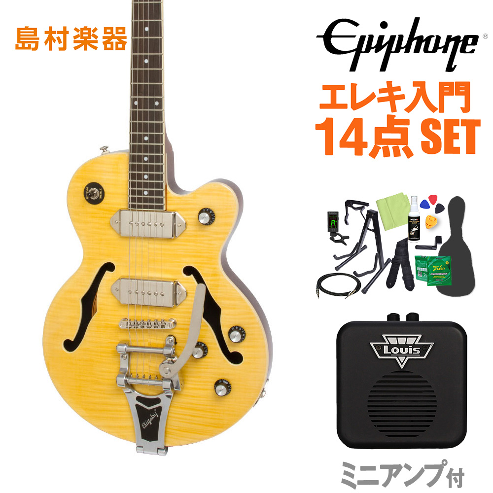 Epiphone Wildkat Antique Natural エレキギター 初心者14点セット ミニアンプ付き ワイルドキャット 【エピフォン】【オンラインストア限定】
