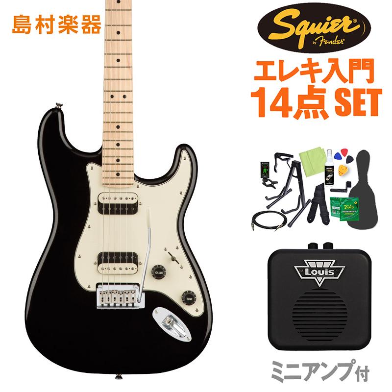 Squier by Fender Contemporary Stratocaster HH Black Metallic エレキギター 初心者14点セット 【ミニアンプ付き】 ストラトキャスター 【スクワイヤー / スクワイア】【オンラインストア限定】