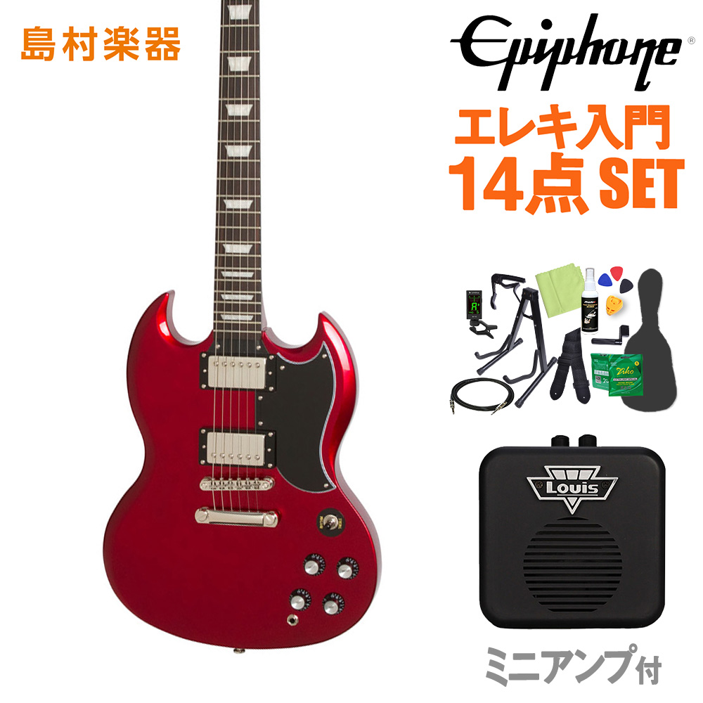 Epiphone Limited Edition 1961 G-400 PRO Candy Apple Red エレキギター 初心者14点セット 【ミニアンプ付き】 【エピフォン】【オンラインストア限定】