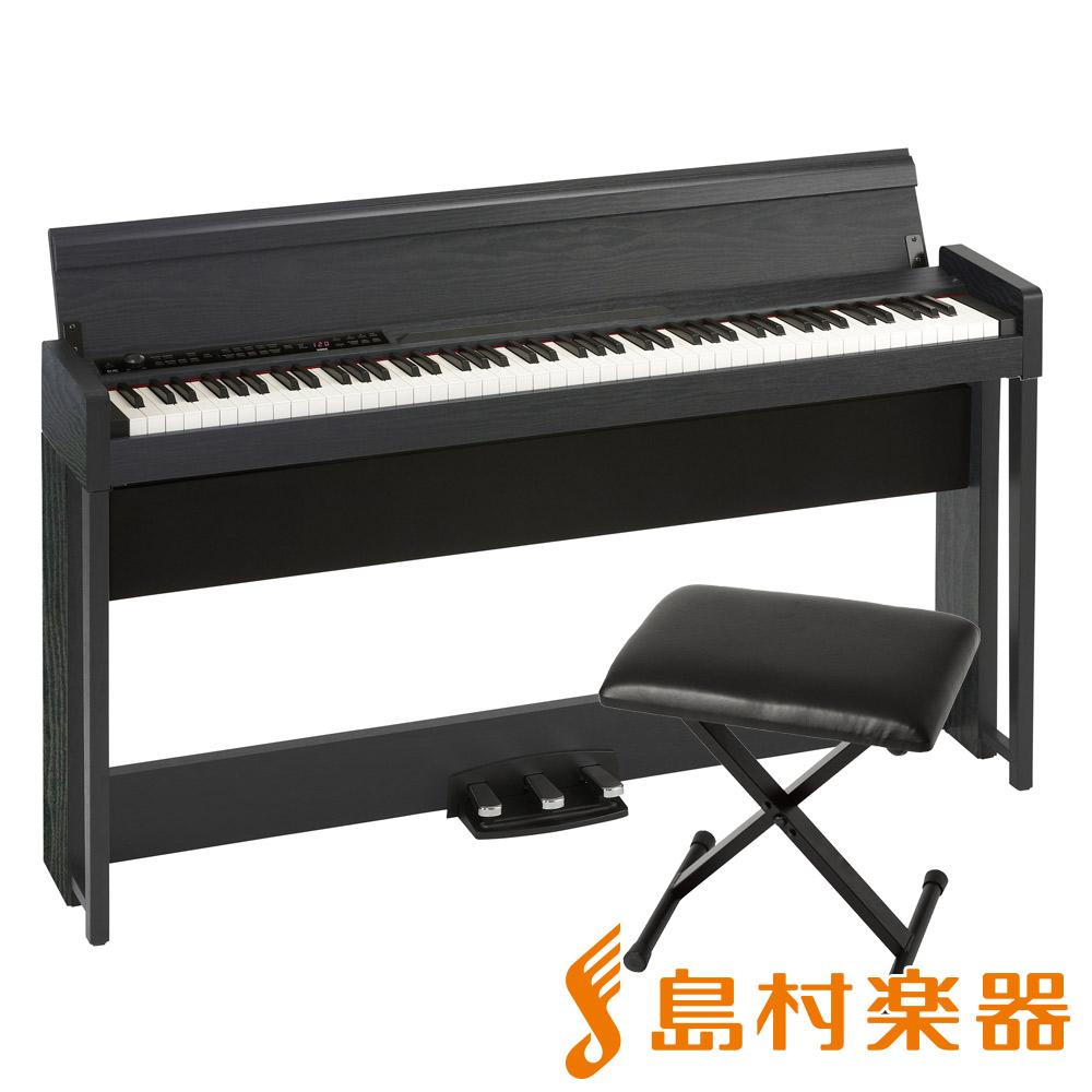 KORG C1 AIR WBK X型イスセット 電子ピアノ 88鍵盤 【コルグ デジタルピアノ】【オンライン限定】【別売り延長保証対応プラン:E】
