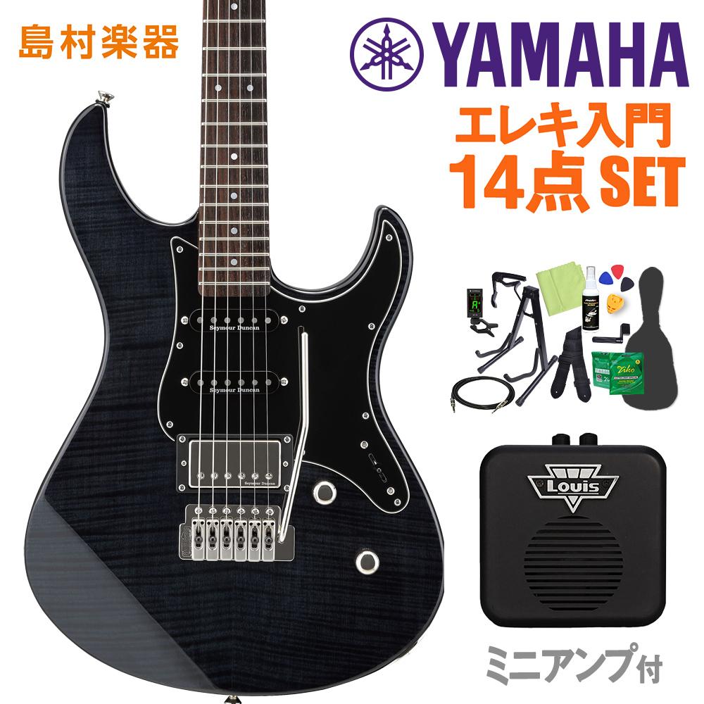 YAMAHA PAC612VIIFM トランスルーセントブラック エレキギター 初心者14点セット 【ミニアンプ付き】 【ヤマハ】【オンラインストア限定】