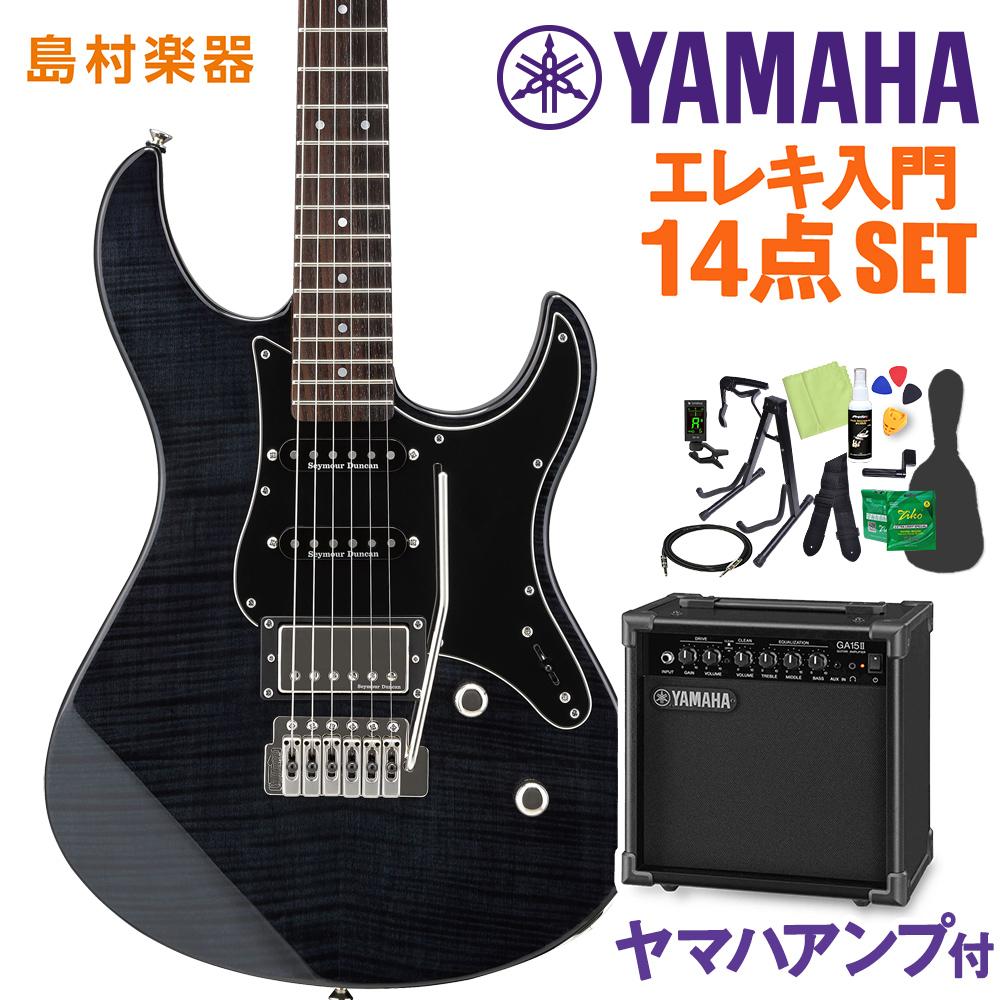 YAMAHA PAC612VIIFM トランスルーセントブラック エレキギター 初心者14点セット 【ヤマハアンプ付き】 【ヤマハ】【オンラインストア限定】