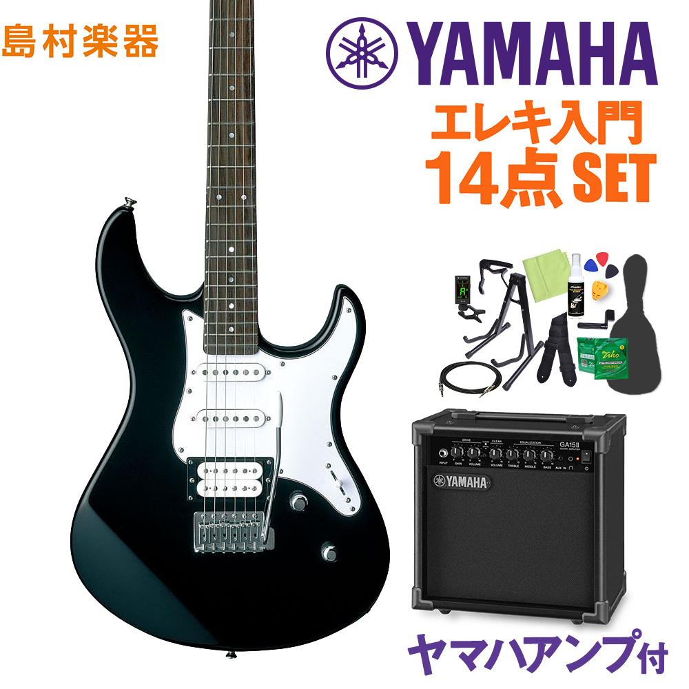 YAMAHA PACIFICA112V BL(ブラック) エレキギター初心者14点セット 【ヤマハアンプ付き】 【ヤマハ パシフィカ PAC112】【オンラインストア限定】