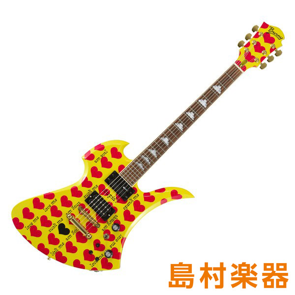 Burny MG-420S Yellow Heart hideコンプリートモデル エレキギター 【バーニー MG420S】【受注生産 納期お問合せ下さい ※注文後のキャンセル不可】