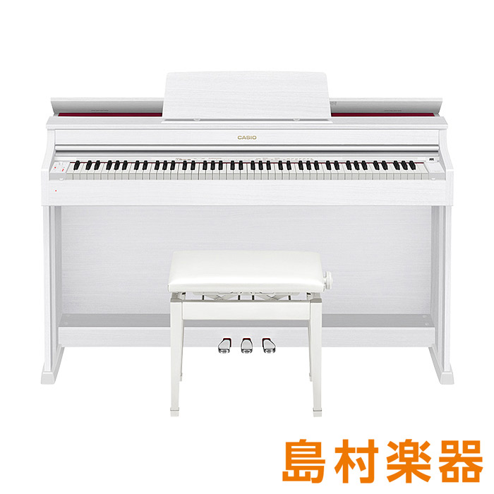 CASIO AP-470 WE ホワイトウッド調 電子ピアノ セルヴィアーノ 88鍵盤 【カシオ AP470】【配送設置無料・代引き払い不可】【別売り延長保証対応プラン:D】