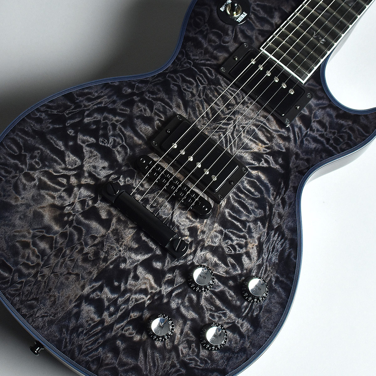 Gibson Custom Shop Les Paul Custom 3A Quilted Maple Charcoal Widow M2M S/N:CS800055 【現地選定品】 【ギブソン カスタムショップ】【未展示品】