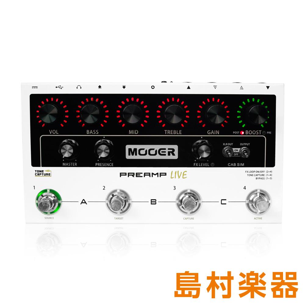 MOOER Preamp Live プリアンプ/マルチドライブペダル 【ムーア】
