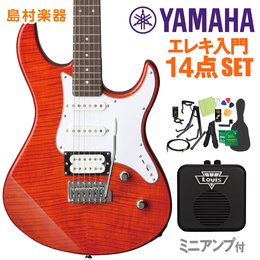 YAMAHA PACIFICA212VFM CMB 初心者14点セット 【ミニアンプ付き】 【ヤマハ】