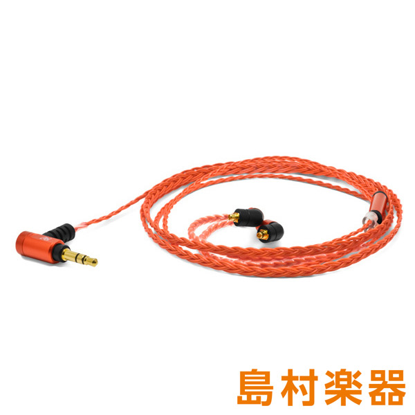 OYAIDE Palette8 MX-B (Deep Orange) 【MMCXタイプ】 WESTONE UM pro/Wシリーズ イヤホン用交換ケーブル リケーブル 【オヤイデ電気】