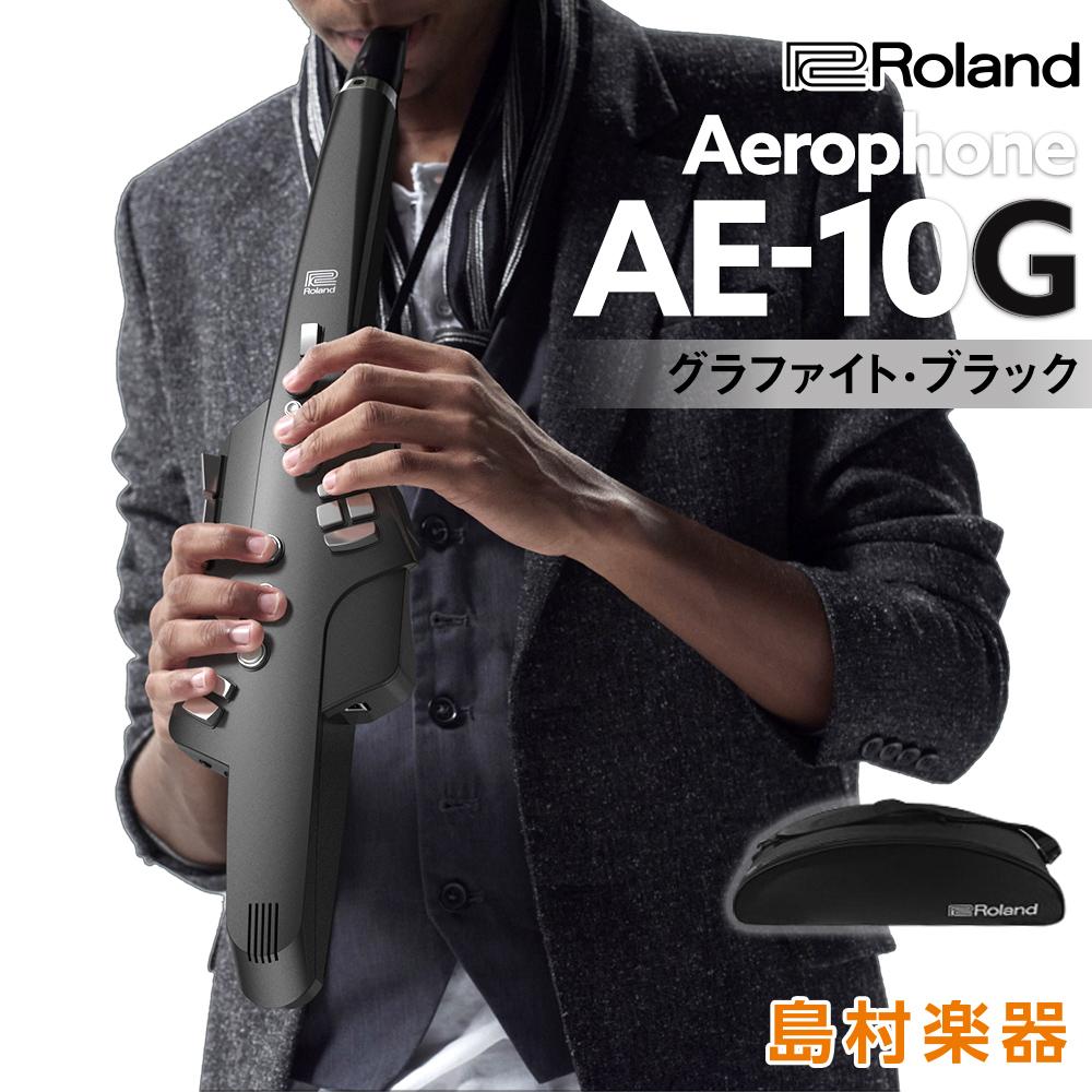 [ポイント5倍 2018/10/31迄]Roland Aerophone AE-10G Graphite Black (グラファイトブラック) ウインドシンセサイザー 【ローランド AE10G】