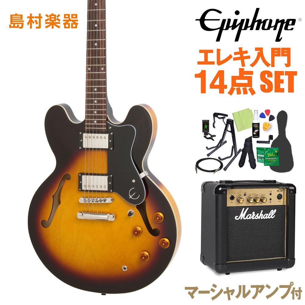 Epiphone Sunburst Dot Vintage Sunburst エレキギター 初心者14点セット【マーシャルアンプ付き セミアコ】 エレキギター ドット セミアコ【エピフォン】【オンラインストア限定】, 雄物川町:5c57378c --- officewill.xsrv.jp