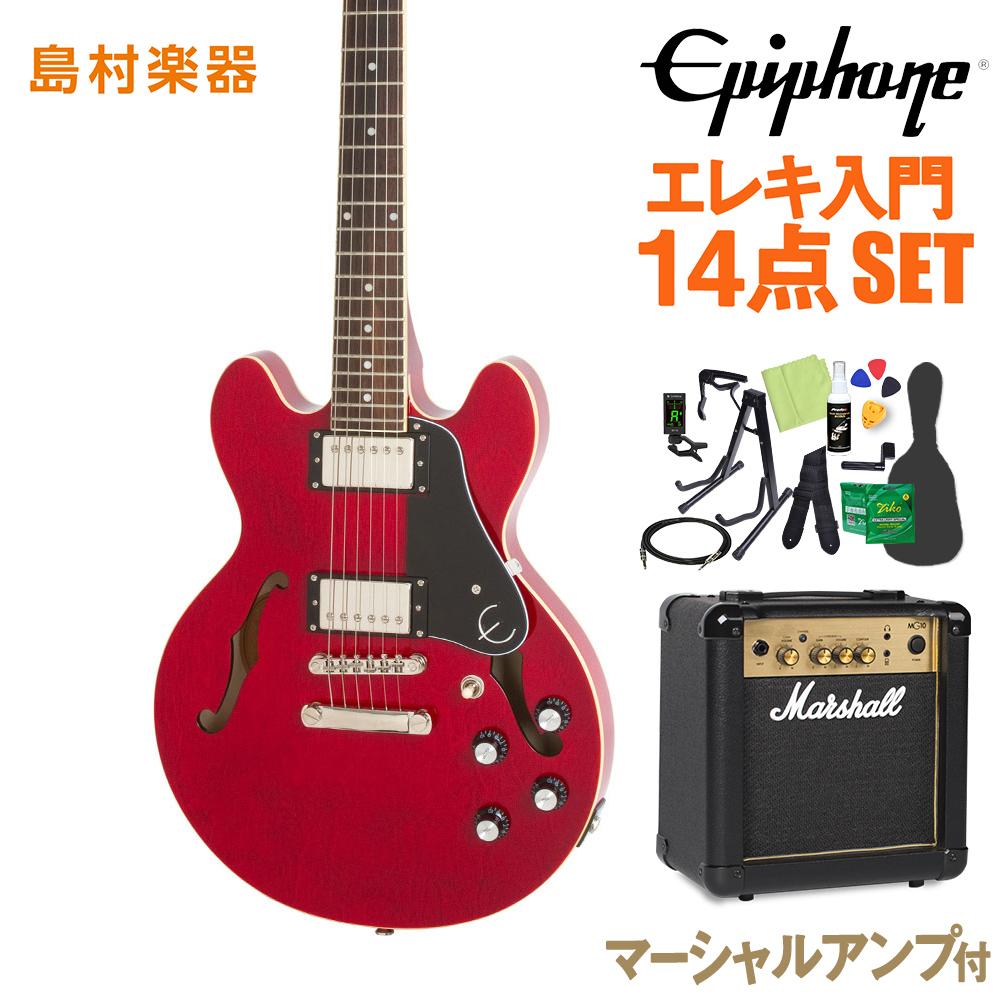 Epiphone Pro ES-339 Epiphone Pro Cherry エレキギター エレキギター 初心者14点セット【マーシャルアンプ付き】 セミアコ【エピフォン】【オンラインストア限定】, あっとあるん:b73e7d8a --- rakuten-apps.jp