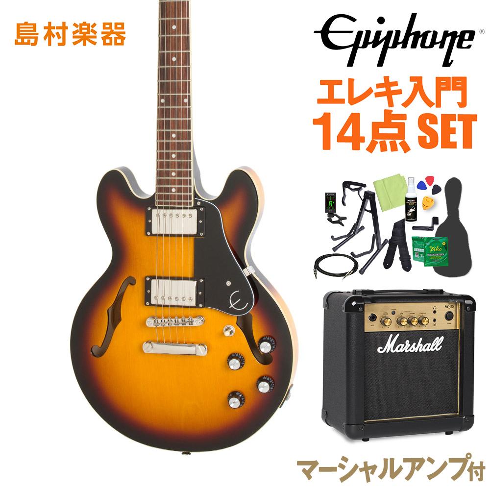 Epiphone ES-339 ES-339 エレキギター Pro Vintage Sunburst エレキギター 初心者14点セット【マーシャルアンプ付き】 Sunburst セミアコ【エピフォン】【オンラインストア限定】, GRANDE TOKYO:8cac6cc3 --- alecrim.art.br