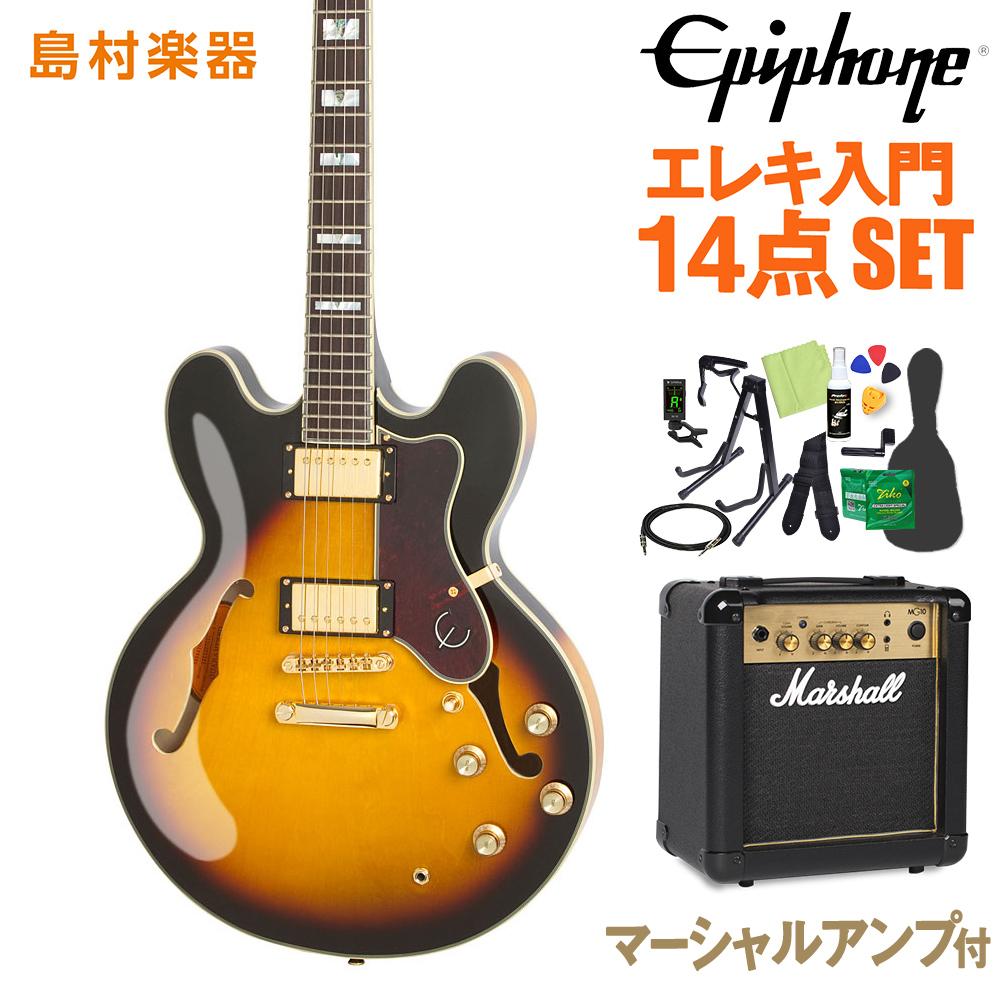 Epiphone SHERATON II PRO VS エレキギター 初心者14点セット マーシャルアンプ付き 【エピフォン】【オンラインストア限定】