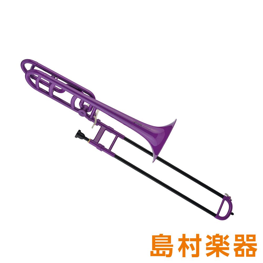 Cool Wind TB-200/F PP パープル プラスチックトロンボーン テナーバス 【クールウィンド プラ管】