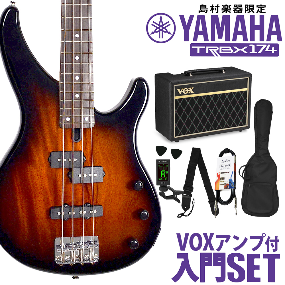 YAMAHA TRBX174 OVS VOXアンプセット ベース 初心者 セット 【ヤマハ】【オンラインストア限定】